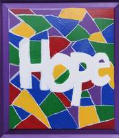 Hope-stained glass