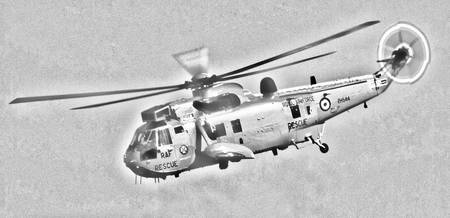RAF Sea King Helicopter Sketch