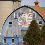 """Patriotic design on old barn"" by Anewsgal"