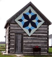 A quilt pattern as barn art