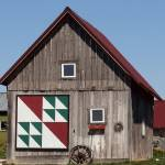 """Large quilt pattern on small farm building"" by Anewsgal"