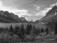 Saint Mary Lake - Black And White Photography