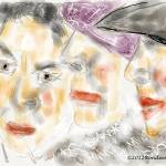 """Three Ladies Two Hats and a Feather Boa"" by artimus"