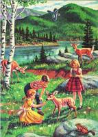 Flower Children Forest Scene