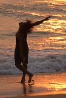 Dancing in the Surf at Sunset