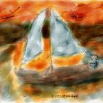 """""""After a day on the water-Sunset on a Sailboat"""" by artimus"""