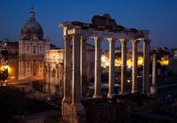 The Roman Forum at Night