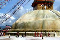 Circumambulating the Stupa Boudha
