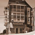 """""""Sunset Grocery in SEPIA"""" by awsheffield"""