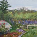 """Monadnock Dressed in Lupines"" by BarbaraBusenbark"
