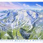 """Whitefish Mountain Resort, Montana"" by jamesniehuesmaps"