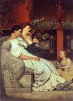 A Roman Famiy by Sir Lawrence Alma-Tadema