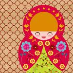 """Russian Matryoshka Doll Number 2"" by ZeppiPrints"