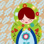 """Russian Matryoshka Doll Number 3"" by ZeppiPrints"