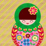 """Russian Matryoshka Doll Number 4"" by ZeppiPrints"