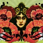 """Art Nouveau Poppy Vixen"" by floppypoppygifts"