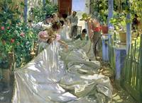 Mending the Sail by Joaquin Sorolla y Bastida