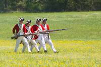 4 Redcoats Charging textart