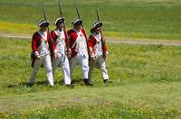4 Redcoats Marching textart
