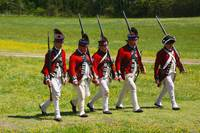 5 Redcoats Marching textart