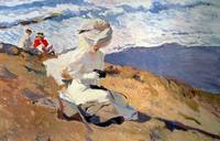 The Beach at Biarritz by Joaquin Sorolla y Bastida