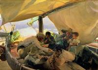 Lunch on the Boat by Joaquin Sorolla y Bastida