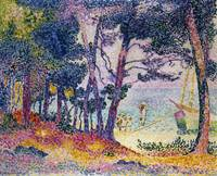 A Pine Grove by Henri-Edmond Cross