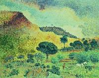 The Maures Mountains by Henri-Edmond Cross