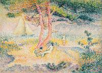 The Beach at St. Clair by Henri-Edmond Cross