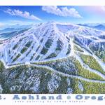 """Mt. Ashland Ski Resort, Oregon"" by jamesniehuesmaps"