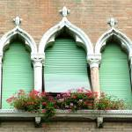 """Ornate Window Brick Wall"" by DonnaCorless"