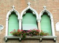 Ornate Window Brick Wall