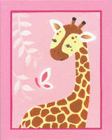 Pink Giraffe and Butterfly