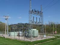 View towards N. E. of IPL's 69-kV Simms Avenue Sub