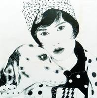Lady with Dalmatian