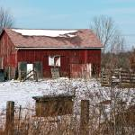 """Farm Outbuilding In Winter"" by StonePhotos"