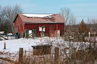 Farm Outbuilding In Winter