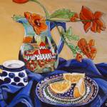 """Polish Pottery X: Oranges Anyone?"" by 88heather"