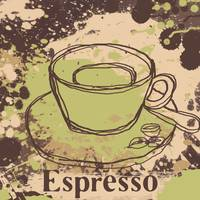 Cup of coffee iepresso