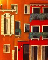 Orange Red rustic homes of Venice