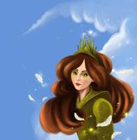 Girl with the green crown