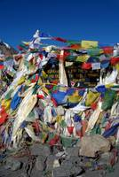 Prayer Flags top of Thorung La