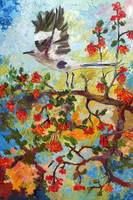 My Mockingbird Impressionist Oil Painting