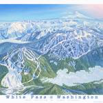 """White Pass Ski Resort, Washington"" by jamesniehuesmaps"