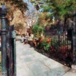 """Abingdon Square Park"" by susansartgallery"