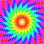 """Polka Dot Rainbow Kaleidoscope Mandala"" by TigerLynx"