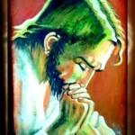"""gesu che prega"" by antoniosellart"