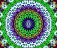Multi-Coloured Kaleidoscope Mandala