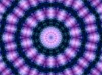 Glowing Blue & Pink Kaleidoscope Mandala