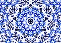 White & Blue Kaleidoscope Mandala